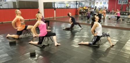 stretching - group exercise class - health - st. louis